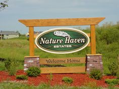 Sign designed for Nature Haven