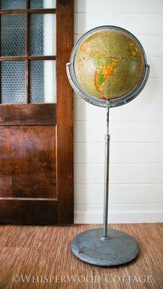 garage sale find: 1930's vintage Rand McNally physical-political globe