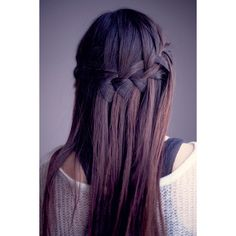 summer-2011-hair-trend-waterfall-french-braid-4.jpg (450×675) ❤ liked on Polyvore featuring hair, hairstyles e hair styles