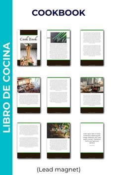 Diseño de lead magnet para libro de cocina o restaurante Lorem Ipsum, Decor, Restaurants, Book, Cooking, Decoration, Decorating, Deco