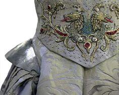 Sansa starks wedding dress. Fish for tully, wolf for stark
