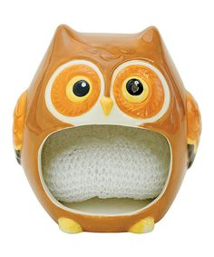 Another great find on Owl Friend Scrubby Holder by Boston Warehouse Owl Kitchen Decor, Owl Home Decor, Kitchen Themes, Kitchen Ideas, Room Decor, Mustard Yellow Walls, Ceramic Owl, Owl Bird, Kitchen Collection