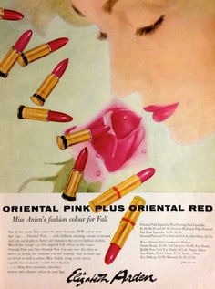 Oriental Pink Plus Oriental Red Vintage Makeup, Vintage Beauty, Vintage Pink, Vintage Ads, Vintage Fashion, Beauty Ad, Beauty Makeup, Beauty Products, Cosmetic Packaging