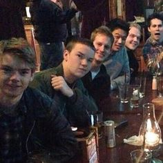 TMR cast. Look at Dylan in the back like we're taking a picture?