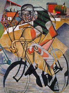 """At the Peggy Guggenheim Museum in Venice is Jean Metzinger's """"At the Cycle-Race Track (Au Vélodrome)"""" of 1912"""