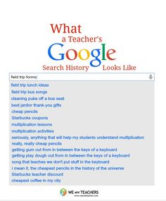 What a Teacher Google Search Looks Like