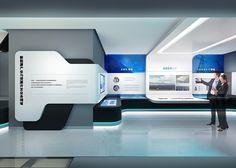 China ENFI Enterprise exhibition hall on Behance Spaceship Interior, Futuristic Interior, Futuristic Design, Museum Exhibition Design, Exhibition Display, Design Museum, Exhibition Ideas, Tv Set Design, Display Design