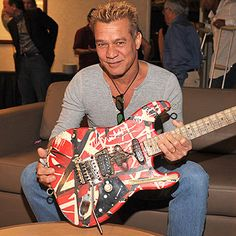 Eddie Van Halen - one of the few guitarists to introduce a radical change in style but still remained uniquely identifiable in spite of the legion of imitators ~ Older Eddie ~ Eddie Van Halen, Music Guitar, Cool Guitar, Strat Guitar, Guitar Pics, Carros Lamborghini, Famous Guitars, Best Guitarist, Greatest Rock Bands