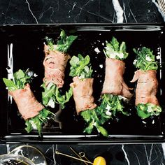 Roast Beef and Arugula Bundles | MyRecipes.com