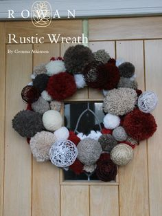 Rustic Wreath in Rowan Cocoon, Lima, Brushed Fleece and Thick & Thin. Discover more Patterns by Rowan at LoveKnitting. The world& largest range of knitting supplies - we stock patterns, yarn, needles and books from all of your favourite brands. Free Baby Patterns, Knitting Patterns Free, Free Knitting, Free Pattern, Knitting Wool, Christmas Makes, Christmas Wreaths, Christmas Crafts, Christmas Ideas