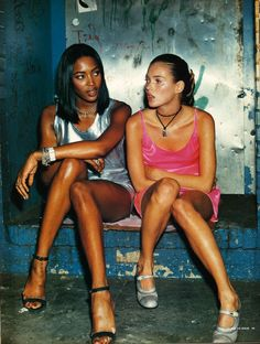 Naomi Campbell and Kate Moss, 1994