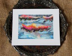 Salmon Run, Watercolor Print, Salmon Spawning, Pacific Northwest Fish, Wall Art 8x10 by SaylorMade on Etsy https://www.etsy.com/ca/listing/552263366/salmon-run-watercolor-print-salmon