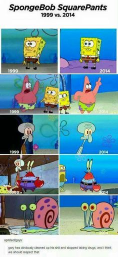 I like the old Patrick, Spongebob, and Squidward. The other two are just creepy