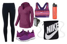 """""""Working Out In The Cold Weather"""" by marsophie ❤ liked on Polyvore featuring moda, NIKE, women's clothing, women's fashion, women, female, woman, misses e juniors"""