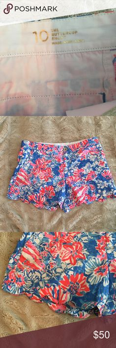 c04b382f46d999 Lilly pulitzer red blue buttercup shorts 10 Lilly pulitzer Pop Pop, red and  blue scalloped
