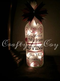 Mother's Bottle Light by CraftyMcCoy on Etsy, $25.00