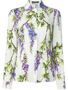 DOLCE & GABBANA Wisteria Print Shirt. #dolcegabbana #cloth #shirt