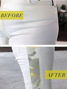 Don't get rid of your favorite pants, just because they are too small. Make them more comfortable by letting out the side seams or add fun side gussets.