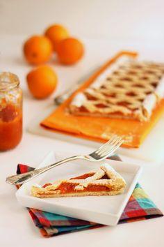 (Crostata con) marmellata di arance, papaya, ruhm e vaniglia