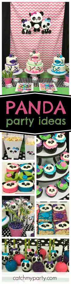 Take a look at this adorable Panda birthday partyfor 3 little girls. The panda cake pops are just too cute!! See more party ideas and share yours at CatchMyParty.com