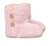 Roze Ugg kinderschoenen Purl babyschoentjes