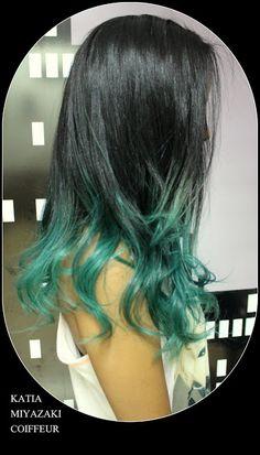 Katia Miyazaki Coiffeur - Salão de Beleza em Floripa: ombre hair - ombre colorida - ombre verde - cabelo...