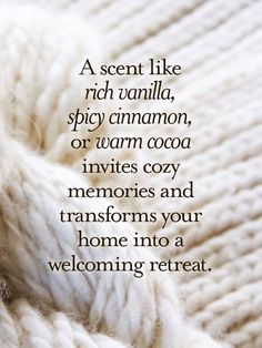 Which is why I always have vanilla scented candles in my apartment.