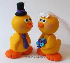 Custom Duck Wedding Cake Topper Yellow by fliepsiebieps on Etsy