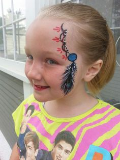 Fourth of July Feather Design Artist Amie Mount Wishing Wells Reflections Model Italey Scheitel Inspired By: Gina Niemi