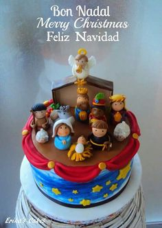 Adorable nativity cake-looks like the fisher price set