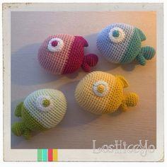Chubby Fish, crocheted using Natura Just Cotton, DMC, by LosHiceYo