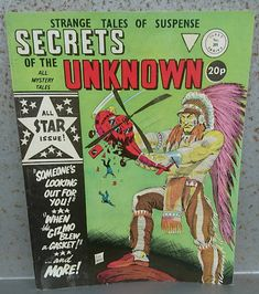 Secrets of the Unknown comic no 201 by Alan class Strange Tales of Suspense Artwork by Lou Wahl Ideal for Framing Stunning cover artwork. The Unknown Comic, Comic 8, Comic Book, Tales Of Suspense, Strange Tales, Horror Comics, Stan Lee, American Comics, The Secret