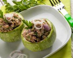 Courgettes rondes farcies au thon, coulis de tomate et persil : Savoureuse et équilibrée | Fourchette & Bikini