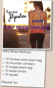 The Ashy Bines Workout!