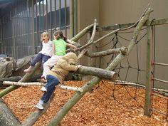 Natural Climbing Structure — Preschool Outdoor Play