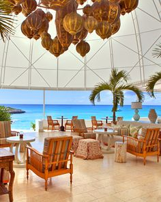 Cap Juluca, Anguilla  This Moroccan-style getaway is all whitewashed domes and arches set atop an expanse of sugar-white sand. Anguilla might be small, but it's home to some of the most beautiful beaches in the Caribbean. capjuluca.com