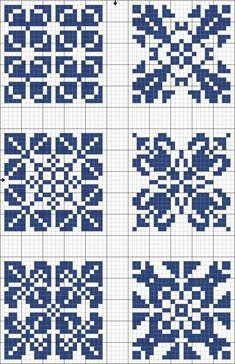Risultati immagini per geometric filet crochet chart Cross Stitch Charts, Cross Stitch Designs, Cross Stitch Patterns, Crochet Chart, Filet Crochet, Knitting Charts, Knitting Stitches, Knitting Patterns, Cross Stitching