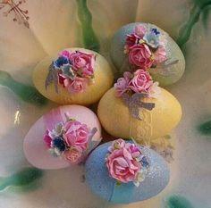 My Easter Eggs~Just bought these. Easter Egg Crafts, Easter Eggs, Easter Decor, Easter Egg Designs, Easter Season, Palm Sunday, Easter Parade, Easter Celebration, Egg Art