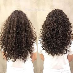 Curly Hair Styles, Curly Hair With Bangs, Curly Hair Tips, Long Hair Cuts, Wavy Hair, Long Layered Curly Hair, Curly Hair Layers, Highlights Curly Hair, Layered Curls