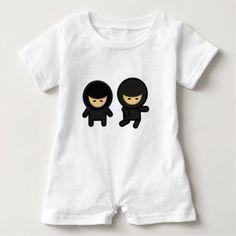 body grenouillère ou barboteuse bébé ninjas