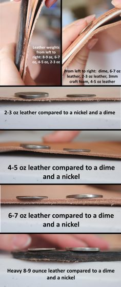 Leather weights compared to everyday objects