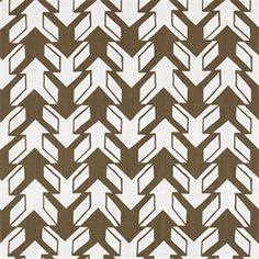 Nano Italian Brown Drew Contemporary Print Drapery Fabric by Premier Prints