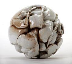elephant ball  ceramic wheel thrown 30 x30 cm