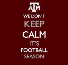 We don't keep calm...it's football season!
