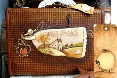 love painting on olde suitcases