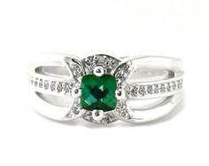 Art Deco Blue Green Tourmaline Ring Vintage Tourmaline Engagement Ring Indicolite Antique Art Nouveau Ring