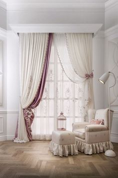 Best Modern Curtain Designs For Living Room Home Decor The ideas on curtains for the living room can vary significantly depending on the size of the room. Smaller rooms will usually need fewer items, while. Lace Bedroom, Girls Bedroom, Bedroom Decor, Bedroom Ideas, Master Bedroom, Wall Decor, Window Curtain Designs, Curtain Styles, Curtain Ideas