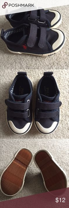 Toddler Polo Shoes Navy with red horse.  Size 5. Polo by Ralph Lauren Shoes Sneakers