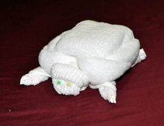Towel Turtle! How cute is this?! I love it!