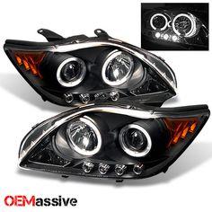 2005 2007 Scion TC Black Bezel Halo Projector LED Headlights Left Right 2006 | eBay